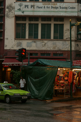 Rainy china town