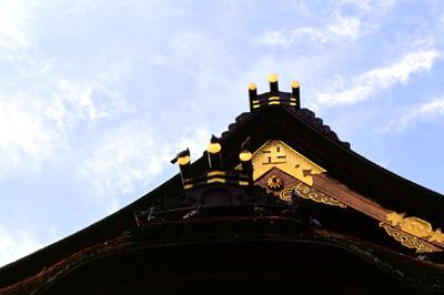 Photo: 本堂の鳩 2005. Nagano, Japan, Contax RX, Carl Zeiss Planar T* 1.4/85(MM), Kodak EBX.