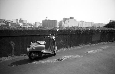 Photo: 堤防 2008. Tokyo, Japan, Zeiss Ikon, Carl Zeiss Biogon T* 2.8/28(ZM), Kodak 400TX.