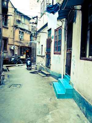 side street in Shanghai