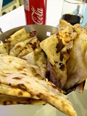 Coke and naan