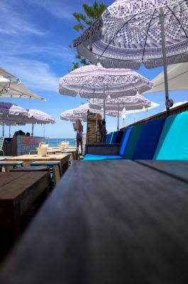 "Photo: ""Beautiful parasols in Bondi beach."""