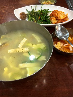 Stockfish and tofu soup.