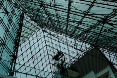 "Photo: ""GLASS PYRAMID 'HIDAMARI'."""