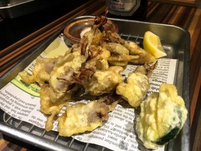 """Photo: """"Firefly squid tempura."""""""