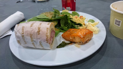 "Photo: ""The rules of convention center dystopia lunch."""