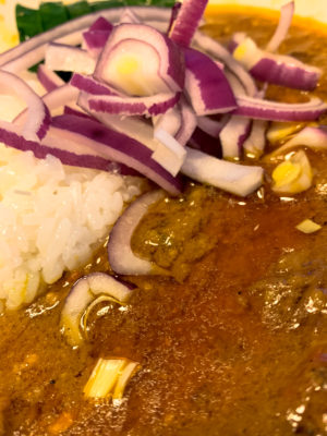 """Photo: """"Red(Purple) onion curry."""""""