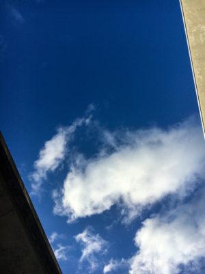 "Photo: ""Rectangle sky form DC's rest area."""